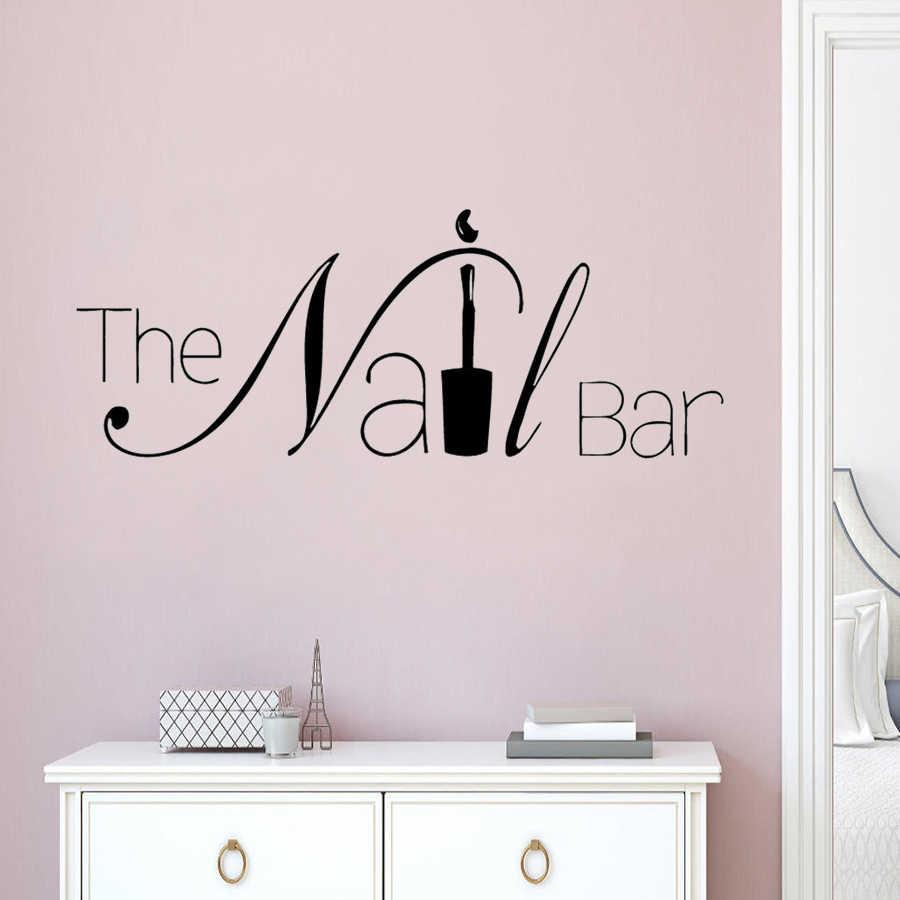 Nail Salon Decoration The Nail Bar Logo Vinyl Wall Decals Removable