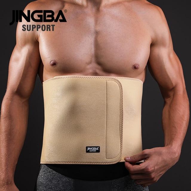 JINGBA SUPPORT 1PCS Professional Adjustable waist trimmer sweat belt Sports Pressurized Back Waist Support Fitness Bodybuilding 1