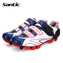 Santic MTB Cycling Shoes zapatillas ciclismo Bicycle Sports Shoes Cleated Shoes zapatos de hombre Mens Cycling Shoes S12014W