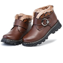 New winter children's shoes baby boy shoes genuine leather snow short boots  winter warm  slippoof and waterproof shoes 1062