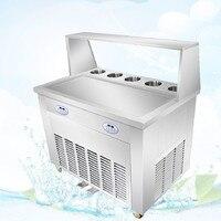 FREE SHIPPING Fried Ice Cream Machine 1600w Cream Roll Fry Ice Pan Machine Commercial Single Pot Stir Fried Yogurt Fruit Machine