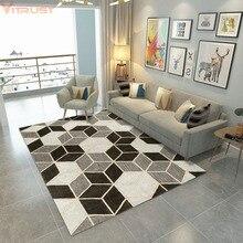 Alfombras geométricas clásicas para sala de estar dormitorio cabecera hogar alfombra persa nórdica alfombras de área modernas mesas de centro alfombras