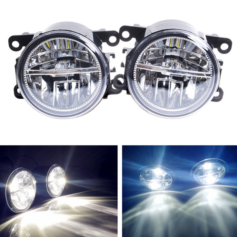 For Jaguar S-Type X-Type XK Convertible _J43_ 2006-2013 Front bumper LED fog lights Car styling drl led daytime running lamps car styling front bumper led fog lights high brightness drl driving fog lamps 1set for jaguar s type x type 2004 2006 2008