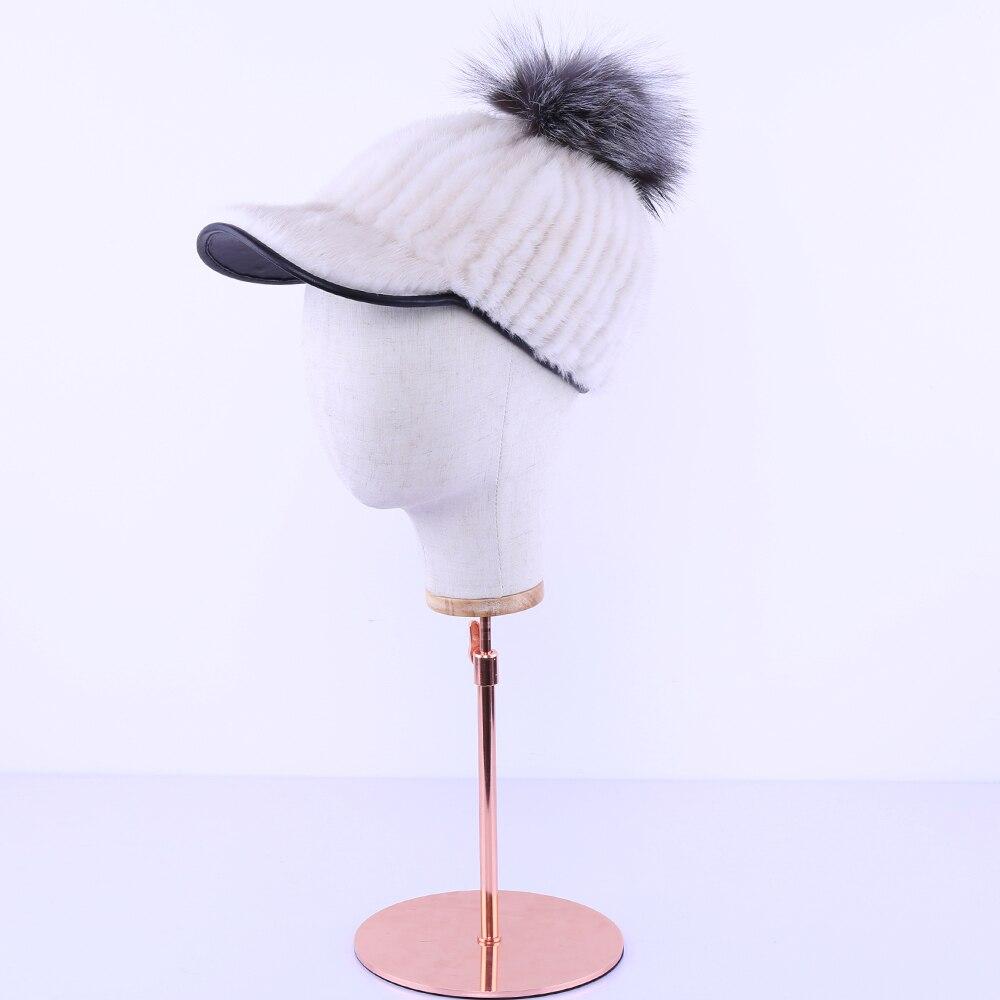 Меховая шапка из натуральной норки женская зимняя норковая шапка рыцарская шапка Термальная женская шапка - 2