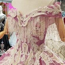 AIJINGYU גותי חתונה שמלת נצנצים עיצוב תחרה שמלות טול אירוסין פרחוני שמלת שמלות ושמלות כלה