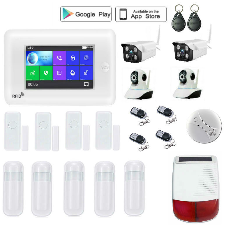 Yobang Security Android IOS App Wireless GSM Home Alarm System SIM Smart Home Burglar Security wifi IP camera Alarm System