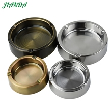 Cigarette Ashtray Stainless Steel Smoking Round Shape Thinckness Durable & Practical Accessory For Public Area