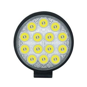 Image 5 - Car Light 4 Inch Rounded 4200LM Led 12V 24V Work Light Bar Driving Pods Spot Beam Work Lamp for Off Road Suv Car Work Lights