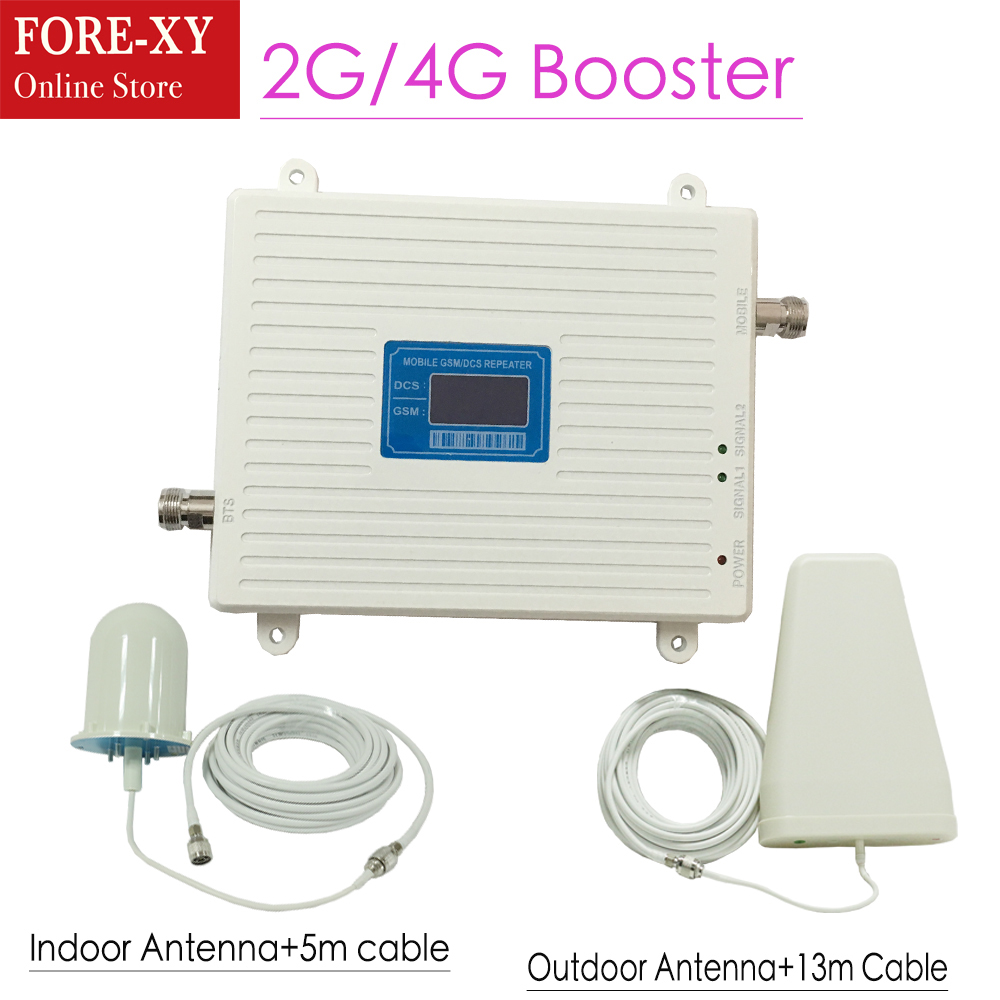 GSM 900 4G LTE 1800 (FDD Band 3) Dual Band Repeater LCD Display 70dB Gain GSM 900mhz DCS 1800mhz Cellular Mobile Signal BoosterGSM 900 4G LTE 1800 (FDD Band 3) Dual Band Repeater LCD Display 70dB Gain GSM 900mhz DCS 1800mhz Cellular Mobile Signal Booster