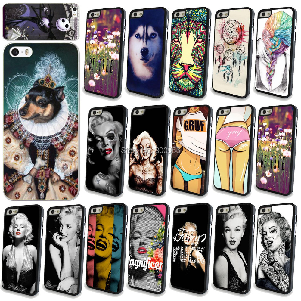 Sexy girls Cute animals patterns Back Cases Cover Apple iphone SE 5 5s Hard PC Phone cases Accessories - poplar1115 store