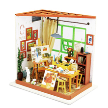 DIY Doll House Miniature With Furnitures 3D Wooden Handmade House Puzzle Toys Gift For Children Ada's Studio Drawing DG103 #E