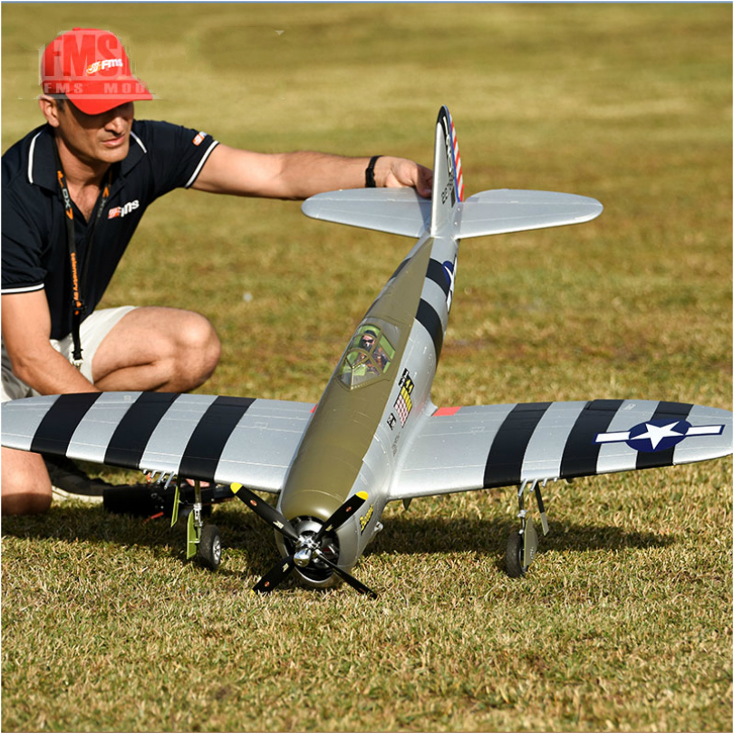 FMS RC Airplane 1500mm 1.5M P47 P-47 Razorback 6CH with Retracts LED 6S EPO PNP Scale Gaint Big Warbird Model Plane Aircraft