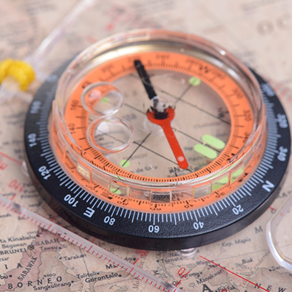 Image 4 - Transparent compass Direction Guide Orienteering Scouts Army Survival Camping Outdoor Hot Sale wholesale-in Compass from Sports & Entertainment