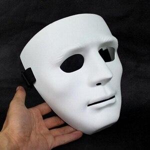 Image 3 - ליל כל הקדושים המפלגה DIY מפחיד מסכות לבן מלא פנים קוספליי מסכות פנטומימת מסכת מסכות כדור מסיבת תחפושות