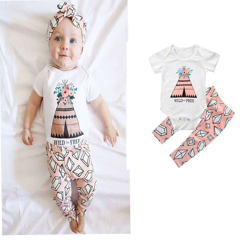 2018 new girls triangle Monogrammed Jumpsuit pants dress 0-2T Baby Set baby girl clothes 2 pieces of jacket and trousers