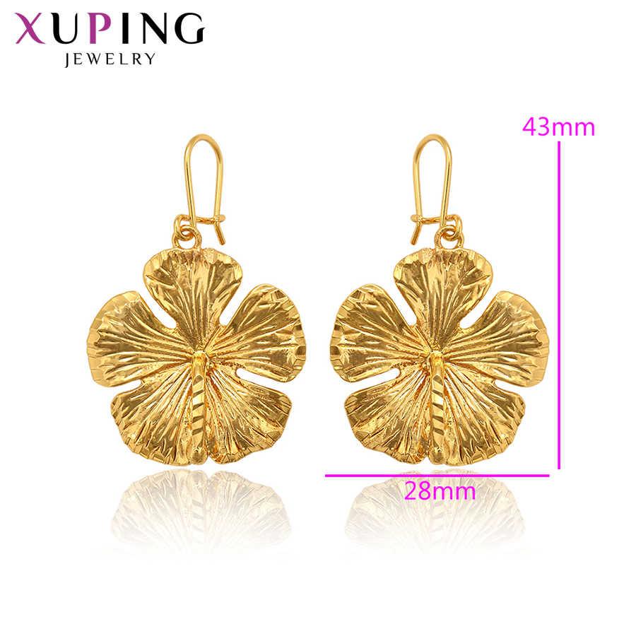 Xuping, модные ювелирные изделия для женщин, рождественские подарки, элегантные серьги-капли из чистого золота с покрытием, S103.7-97765