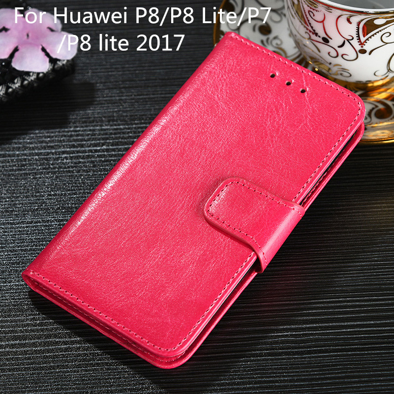 For Huawei P8 P8 Lite P8 Lite 2017 P7 Case Cover PU Leather Wallet Case for Coque For Huawei P8 Lite 2017 Fundas