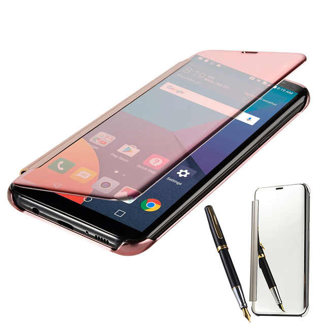 Acrylic Hard Case untuk Samsung Galaxy S9 S8 Plus S7 S6 Edge S5 Neo S9Plus S8Plus Stand Cell Phone Kembali cermin Penutup Belakang