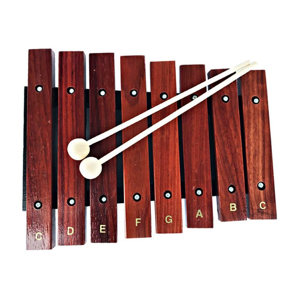 1pcs Kids Natural Wooden 8 Wide Note Tone Xylophone Percussion Musical Instrument Children Early Learning Drop Shippi