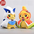 OHMETOY Poke Center Poncho Pikachu Mega Series Lugia Ho-oh Plush Toy Soft Doll Mascot Anime Brinquedos Juguetes Gifts