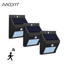 1200 мАч PIR датчик движения Солнечный светодиодный настенный светильник 20 40 светодиодный s IP65 наружный светильник для крыльца автоматическое выключение/вкл. Садовый гаражный охранный светильник ing