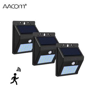 1200 mAh PIR Motion Sensor Solar LED Wall Lamp 20 40 LEDs IP65 Outdoor Porch Light Auto OFF/ON Garden Garage Security Lighting(China)