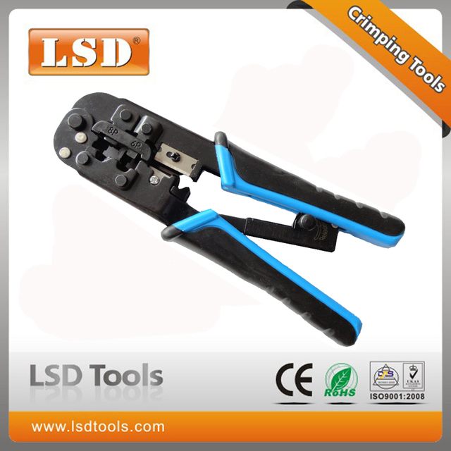 "LT-N5684R 7-1/4""L Data And Phone Crimper, 8P8C/RJ45, 6P6C/RJ-12, 6P4C/RJ-11 telecom RJ45 crimping plier"