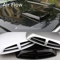 Black White Grey Air Flow Car Simulation Wind Mesh Air Flow Intake Scoop Turbo Bonnet Vent Cover Hood Decorate Car Styling