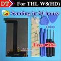 100% Original THL W8 Pantalla LCD Montaje de la Pantalla 1280*720 Para THL W8 HD