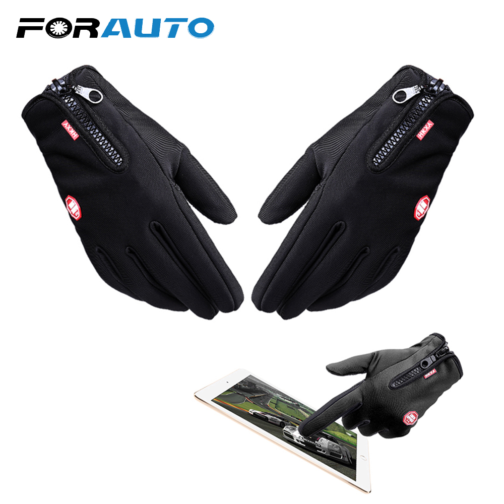 Hot Motorcycle Gloves Touch Screen Windstopper Full Finger Ski Gloves Warm Riding Glove Outdoor Sports Car-styling M L XL Size