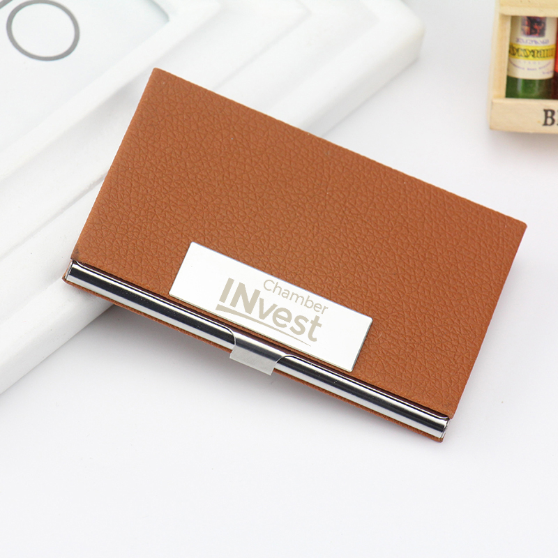 Personalized Business Card Holder for Men Women Custom Logo Engraved ...