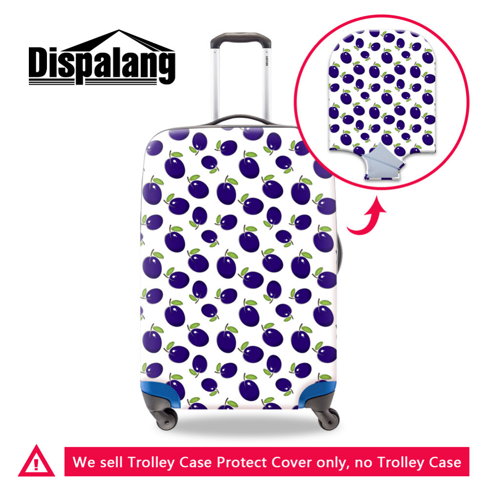 Fruits Print Thicken Wearable Luggage Protective Cover For 18-30 Inch Trolley Case Elastic Suitcase Cover Travel Accessories