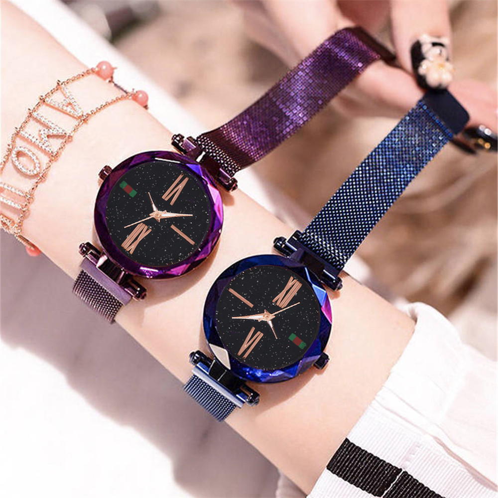 Watch New Waterproof Women 2019 Quartz Luxury Cool Fashion Polygon Surface Watches From Roman Sky Ladies Magnet Gold Buckle Numeral Starry YbW2EHDIe9