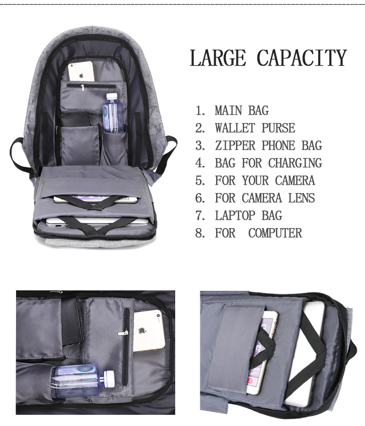 Charging USB Backpack-4