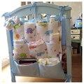 Baby Bed Hanging Storage Bag Nappy Bag Crib Organizer  Diaper Storage Bag Toy Pocket For Baby Crib Bedding Set