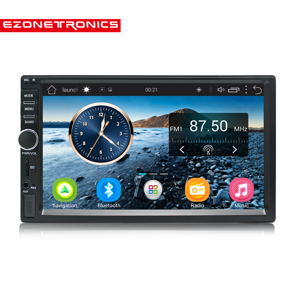 "7"" Android 6.0 Quad Core 2G+32G Universal Double 2Din Car Audio Stereo GPS BT Navigation Radio Kits Car Multimedia video"