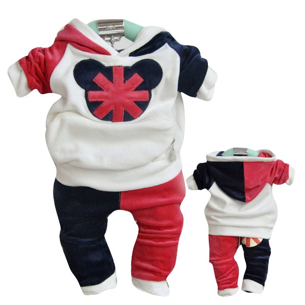 ФОТО New arrival autumn/winter children clothing set boy sport and leisuire sweater+pants suit free shipping