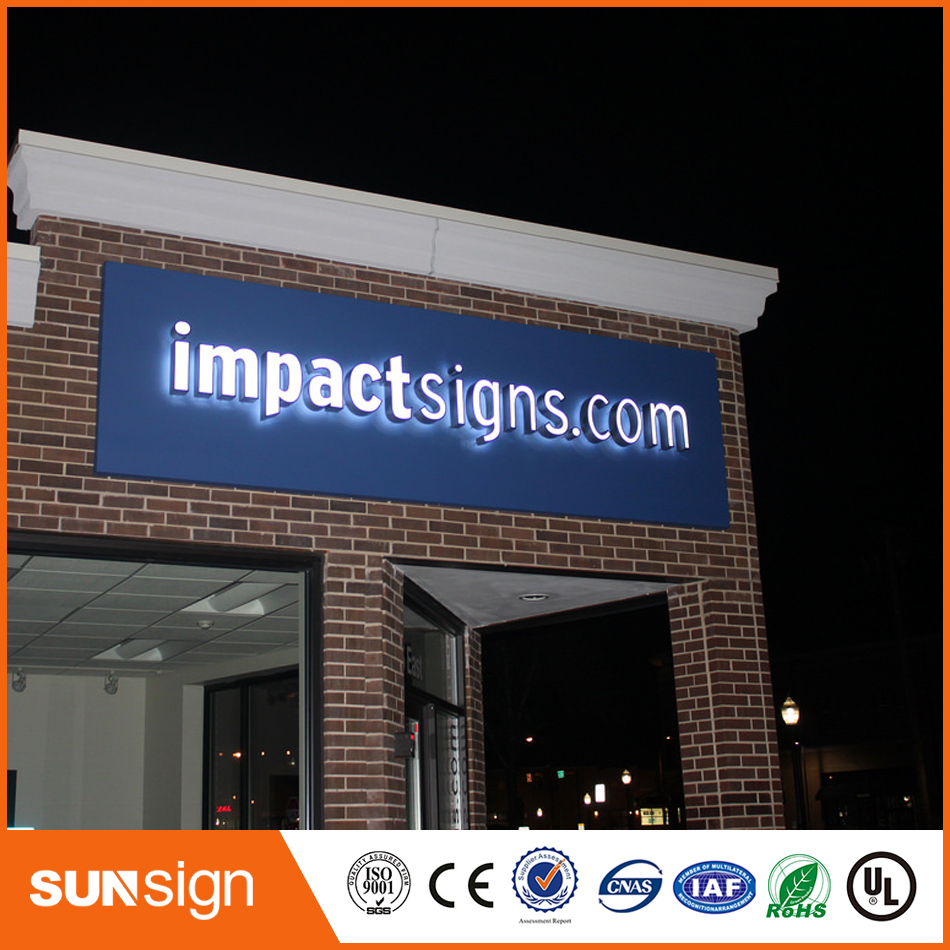 Outdoor Frontlit 3D LED Lighted Acrylic Channel Letter