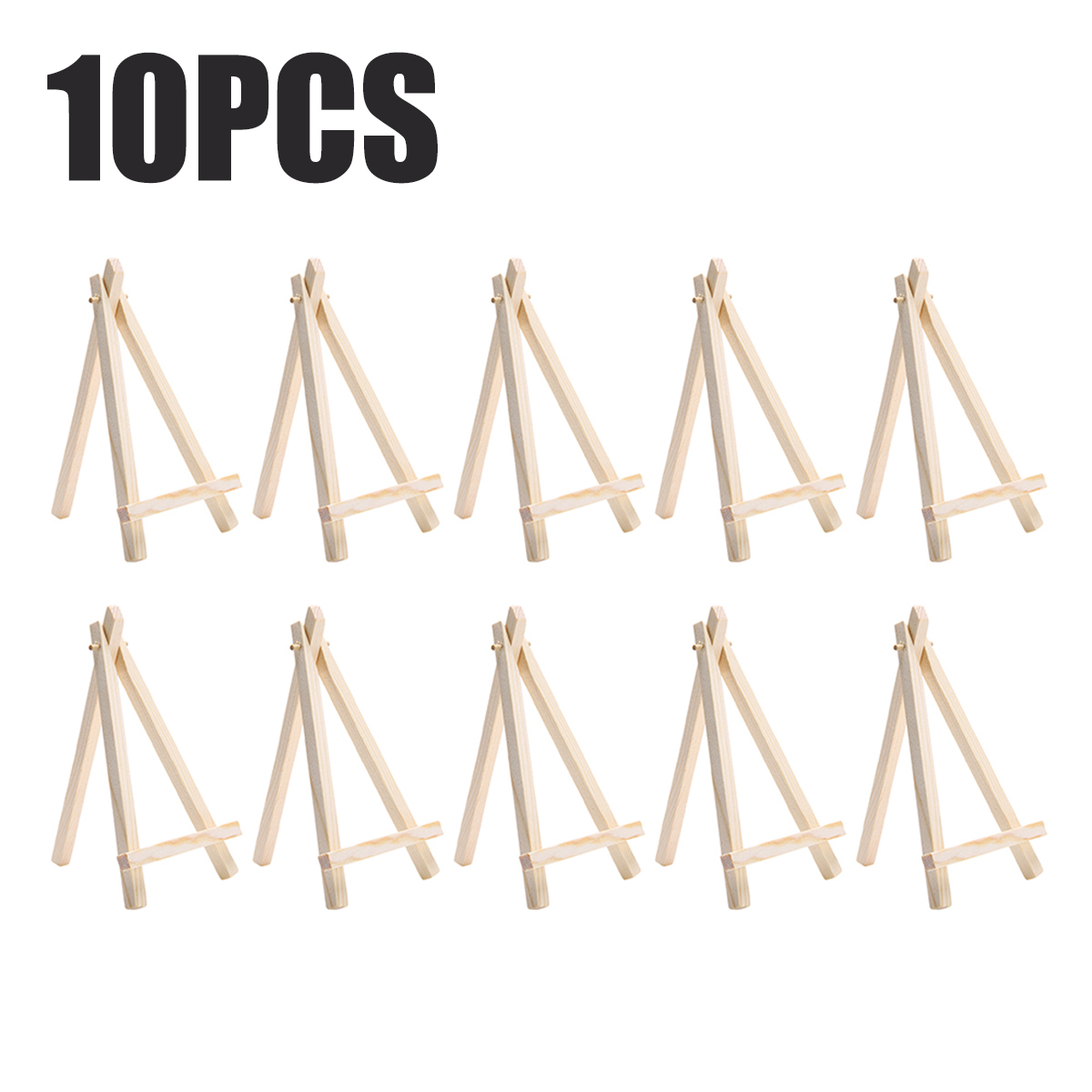 10pcs/set Wooden Mini Easel Stands Table Card Stand Holder Small Picture Display Stand For Home Party Wedding Decoration