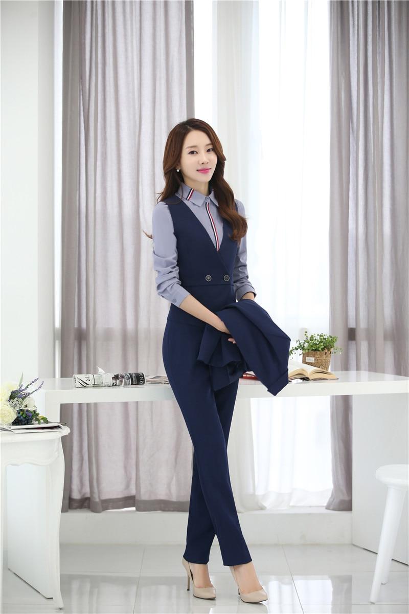 Pantalón Trajes mujeres chaleco y chaleco 2 unidades pantalones y Top Sets  formal señoras negocios Trajes Oficina uniforme estilos en Trajes de  pantalón de ... fb82b3f2eef9