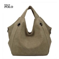 Luxury Handbags New Fashion Canvas Big Women Bags High Quality Hobo Messenger Bags Famous Top Handle