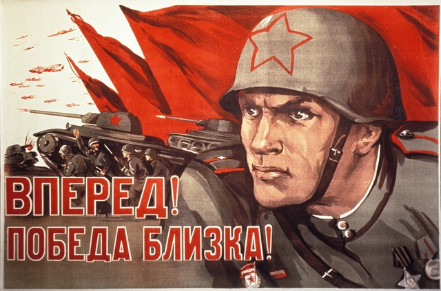 WW2 Soviet Union Soldier CCCP Propaganda Poster Vintage Retro Canvas Painting DIY Wall Paper Posters
