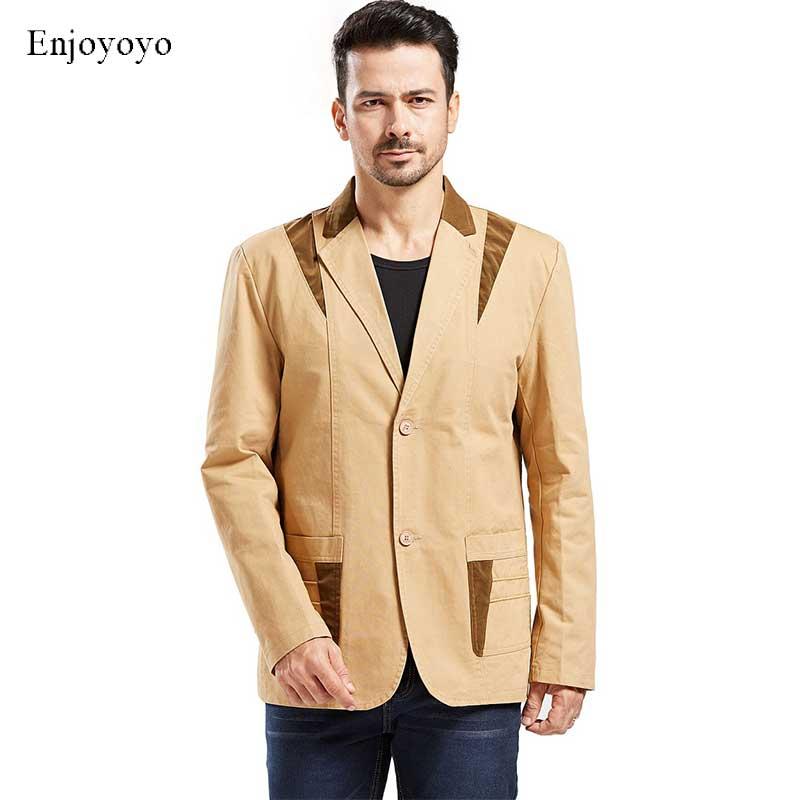 US Size Men Blazers Casual Patchwork Blazer Men's Suit Coat  With Pockets Male Blazer Masculino Jackets XS-XXL