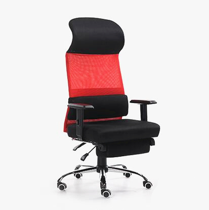 High Quality Fashion Computer Chair Ergonomic Soft Home Office Chair Breathable Mesh Lifting Leisure Boss Chair with Footrest 240340 high quality back pillow office chair 3d handrail function computer household ergonomic chair 360 degree rotating seat