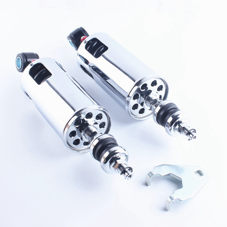 285mm Adjustable Rear Shock Absorbers Suspension For Harley Softail Springer - FXSTS Softail Deluxe - FLSTN Fat Boy (EFI) - FLS bar rear axle covers for harley davidson heritage softail classic deluxe flst slim fls flstc flstn flstsb cross bones 2008 2017