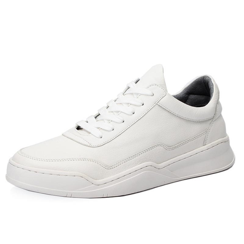 Skateboarding Shoes White Flat With Walking Shoes Do old Dirty Shoes Outdoor Athletic Cow Leather Large Size Women(China)