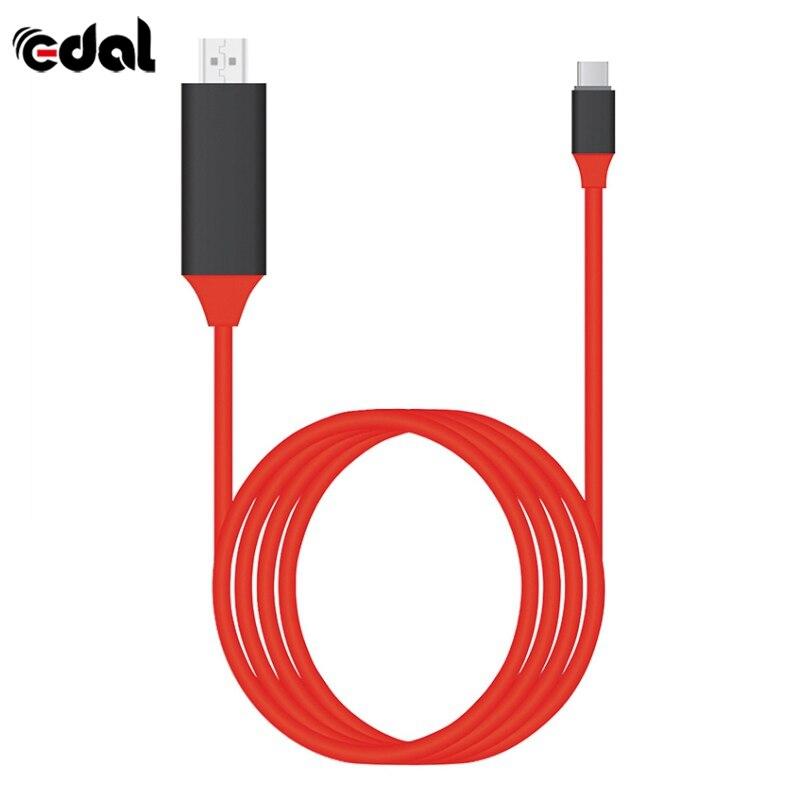 EDAL di Tipo C a HDMI Cavo USB 3.1 a HDMI 4 k Ad Alta Velocità Cavi Adattatori per MacBook Pixel ChromeBook per Samsung S8 S