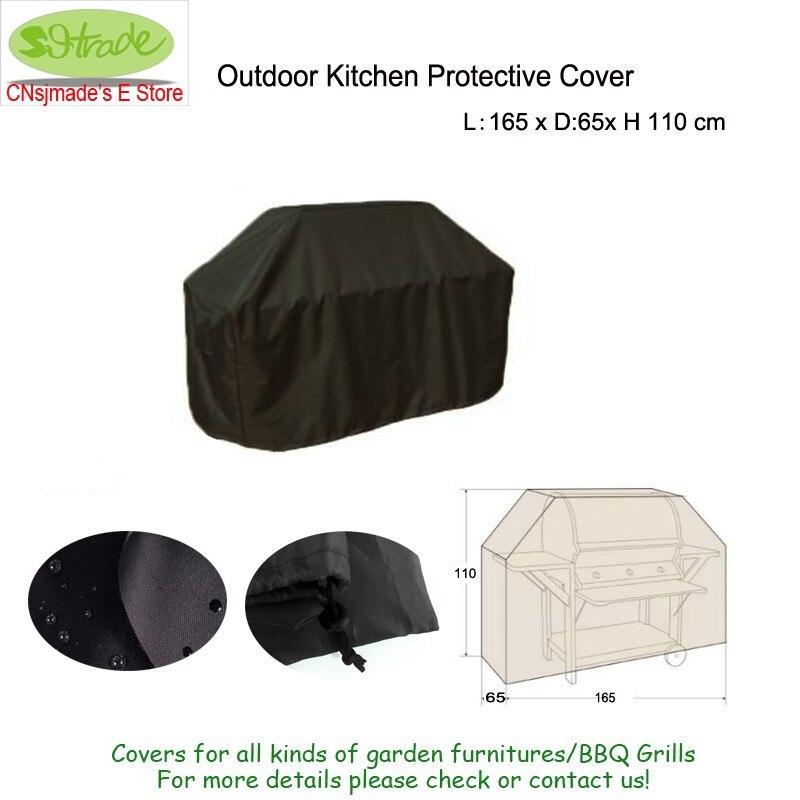 165 cm cocina al aire libre cubierta protectora, 165x65x110 cm ...