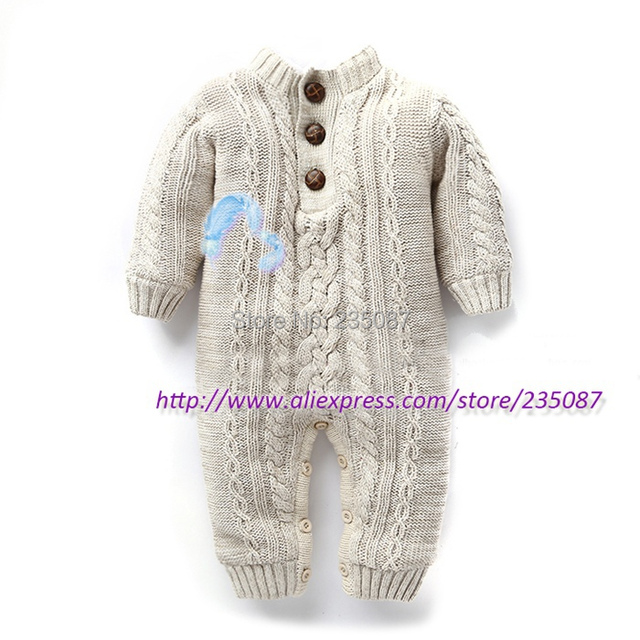 172bbe182 (0-1Y) baby overalls for winter, newborn baby rompers, cable knit overalls  thick fleece warm rompers, thick cotton mameluco