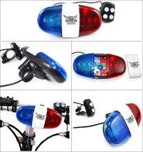 Велосипедный звонок 6 светодиодный 4 тон велосипедный сигнал руля четко звук велосипедный Звонок светодиодный велосипедный свет Электронная Сирена аксессуары для детей